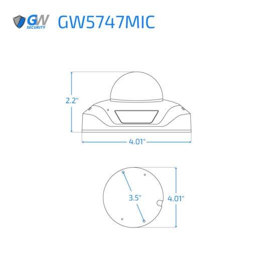5747MIC dimensions