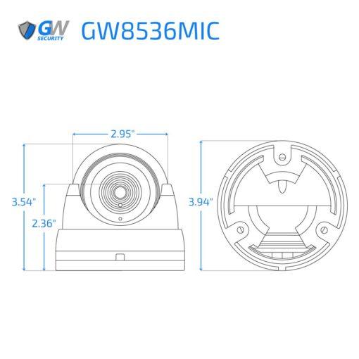8536MIC dimensions
