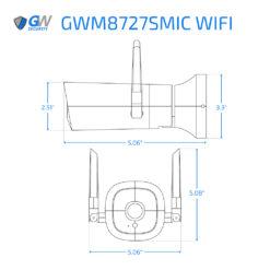 8727SMIC WIFI dimensions